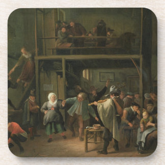The Interior of a Tavern with a Couple Dancing to Coaster