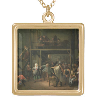 The Interior of a Tavern with a Couple Dancing to Gold Plated Necklace