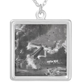 The Interior of Fort Sumter During the Silver Plated Necklace