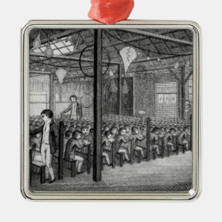 The Interior of the Royal Free School Christmas Ornament
