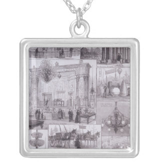 The International Electric Exhibition Silver Plated Necklace