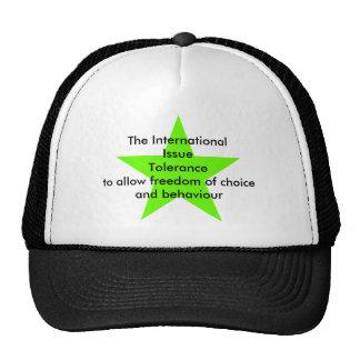 The International Issue Tolerance Star Green Lt Trucker Hats