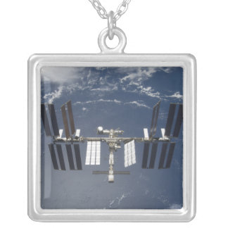 The International Space Station 13 Silver Plated Necklace