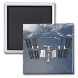The International Space Station 13 Square Magnet