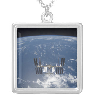 The International Space Station 14 Silver Plated Necklace