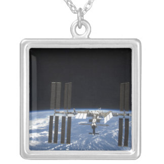 The International Space Station 18 Silver Plated Necklace