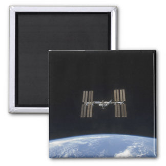 The International Space Station 7 Square Magnet