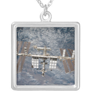 The International Space Station 8 Silver Plated Necklace