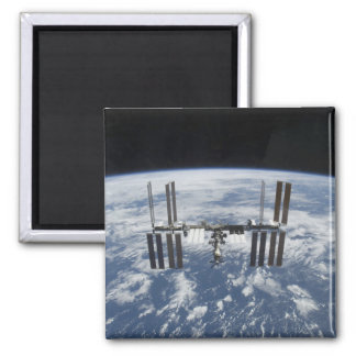 The International Space Station in orbit Square Magnet
