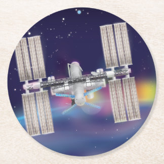 The International Space Station Round Paper Coaster