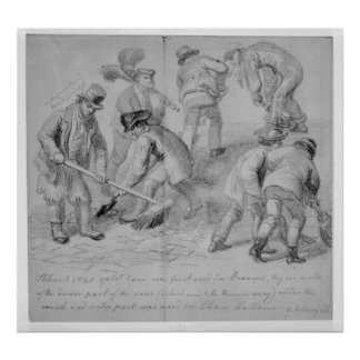 The introduction of split cane brooms poster