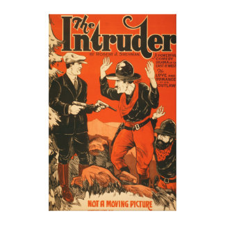 The Intruder - Western Cowboy Comedy Theatrical Canvas Print