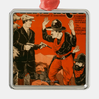 The Intruder - Western Cowboy Comedy Theatrical Christmas Ornament