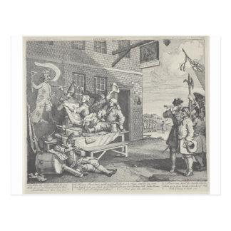 The Invasion, England by William Hogarth Postcard