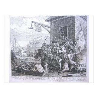 The Invasion, France by William Hogarth Postcard