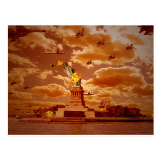 The Invasion Of NewYork Postcard