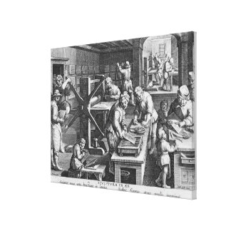 The Invention of Copper Engraving Canvas Print