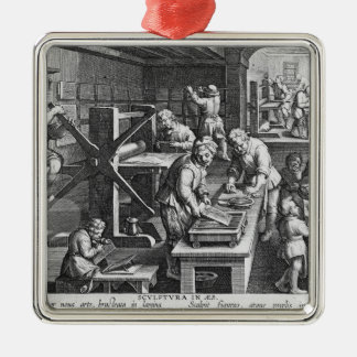 The Invention of Copper Engraving Christmas Ornament