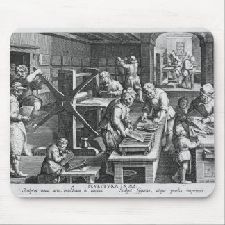 The Invention of Copper Engraving Mouse Pad