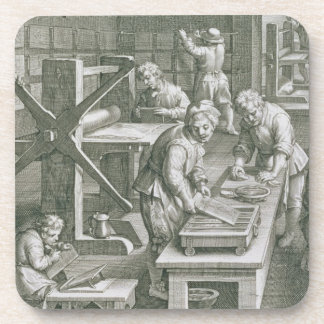 The Invention of Copper Engraving, plate 20 from ' Beverage Coaster