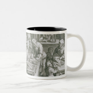 The Invention of Copper Engraving, plate 20 from ' Two-Tone Coffee Mug