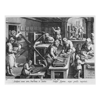 The Invention of Copper Engraving Postcard
