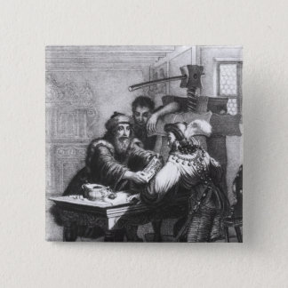 The Invention of Printing, 1827 15 Cm Square Badge