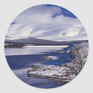 The Inverness to Ullapool, called the Dirrie More, Round Sticker