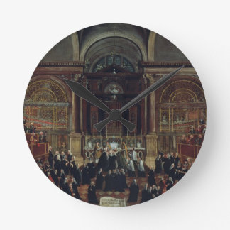 The Investiture of a Monarch in San Lorenzo (oil o Round Clock