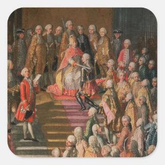 The Investiture of Joseph II Square Sticker