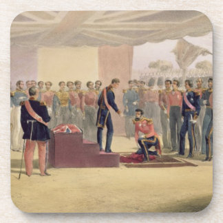 The Investiture of the Order of the Bath, plate fr Coaster