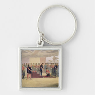 The Investiture of the Order of the Bath, plate fr Silver-Colored Square Key Ring