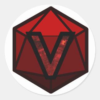 "The INVICTUS Stream ""RED TEAM"" Logo Classic Round Sticker"