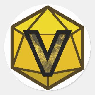"The INVICTUS Stream ""YELLOW TEAM"" Logo Classic Round Sticker"