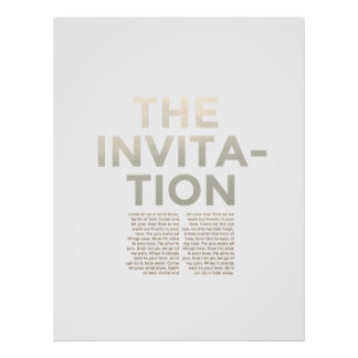 The Invitation Lyric Print