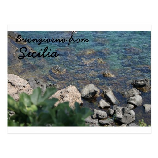The Ionian Sea from Aci Castello Sicliy Postcard