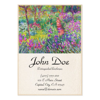 The Iris Garden at Giverny Claude Monet cool, old, Business Card Template