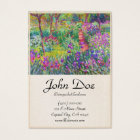 The Iris Garden at Giverny Claude Monet cool, old, Business Card