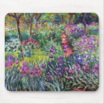 The Iris Garden at Giverny, Claude Monet Mouse Pad