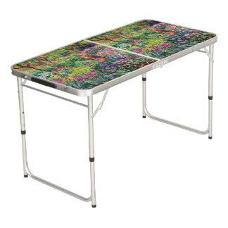 The Iris Garden by Claude Monet Beer Pong Table
