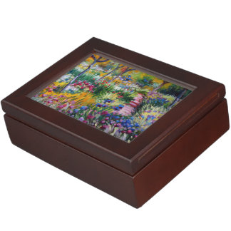 The Iris Garden by Claude Monet Keepsake Box