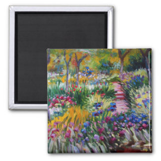 The Iris Garden by Claude Monet Magnet