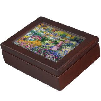 The Iris Garden by Claude Monet Memory Boxes