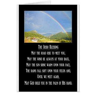 The Irish Blessing Card