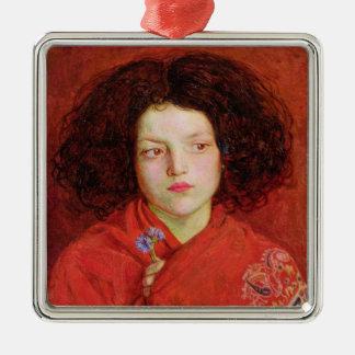 The Irish Girl, 1860 (oil on canvas laid down on b Christmas Ornament