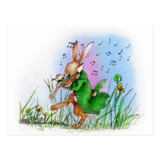 THE IRISH HARE POSTCARD