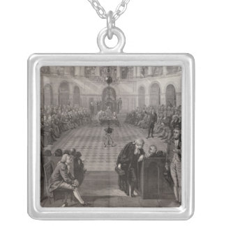 The Irish House of Commons Silver Plated Necklace