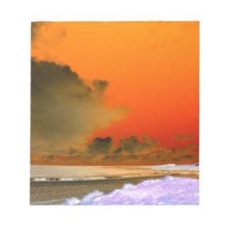 The Irish Sea Inverted photo Notepad