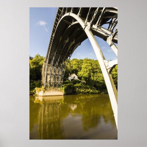 The Ironbridge @ Ironbridge, Telford, Shropshire. Poster