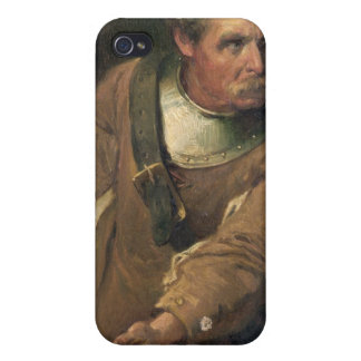 The Ironside (oil on canvas) (pair of 124491) Cases For iPhone 4